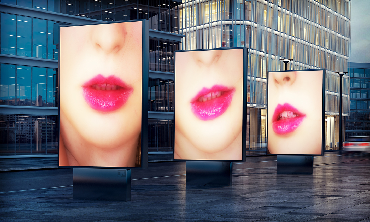 The Lips 2 – Johnathan Kell Poster Premium Brillant 20x30cm